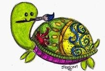 My Art / Pictures all drawn and painted by me!!!!! Most pictures are from my blog - http://crafty-turtle.blogspot.co.nz/