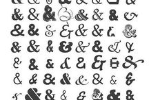 Schriftarten und Doodles