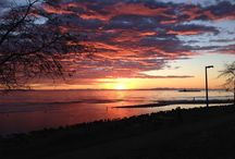 Sunsets on East Beach / Our bakery is in White Rock BC on East Beach. In winter the sunsets out our window are incredible. Photography by owner and pastry chef Alex Bois-Bonifacio.