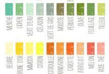 Palettes de couleurs / inspirations