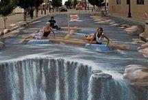 Straßenmalerei 3D