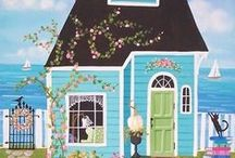 Illustrated Homes & Buildings -Art