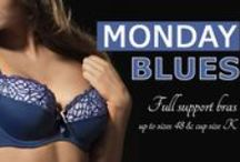 Bras & Briefs | #MondayBlues / Keep track of our Blue underwear from our #MondayBlues post on twitter and find the blue bras and briefs you've been dreaming of.