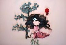 Quilled woman