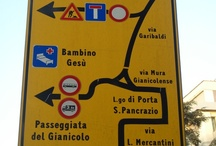 Funny Rome Signs / Own 'Love Rome' photographs of the funny side of text writing and road signs