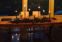 Table Design / table setting, glassware, flatware, dinnerware- allware we love!