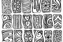 patterns, zentangles, doodles