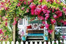 Feito pra SONHAR. / Eu queria ter na vida Simplesmente Um lugar de mato verde Pra plantar e pra colher Ter uma casinha branca De varanda Um quintal e uma janela Para ver o sol nascer  ♫ ♫ ♫