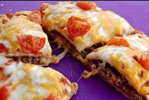 Pizza and Quesadillas