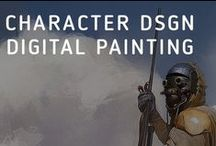 Digital painting and character design