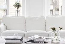 White home / Decoration in white and pale tones