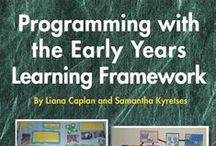 Early Childood Resources / Our resources include books and CDs that contain: programming information, assessments of learning, experience ideas, setup examples, photographs and templates all linking to the EYLF.