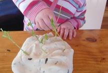 Sensory Play / A variety experiences where the children are encouraged to explore using their senses.