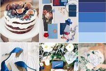 Shades of Blue / A little inspiration for wedding + event decor thanks to the prettiest shades of blue. Perfect for any season.