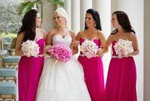 Fuchsia wedding by Mikael