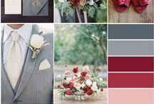 Shades of Gray / Inspired by Stormy Weather, a lovely shade of gray featured in Pantone's 2015 fall color report. Gray pairs well with many colors & is perfect for not just a fall wedding or event, but winter & spring too.