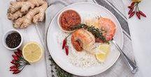Fisch Rezepte - Hauptgerichte mit Fisch / Rezepte mit Fisch - Rezeptideen für ein Fisch, Meeresfrüchte. Schnelle, leckere Rezeptideen und Gerichte für Fischliebhaber. Fischrezepte für alle Jahreszeiten: Pasta mit Fisch, Fisch gebraten, Fisch gebacken oder traditionelle Fischgerichte.