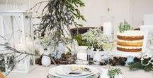 Winter dinner table / Decoration & recipe ideas for a classy and elegant winter dinner.  Deko & DIY Ideen und Rezepte für den winterlichen Dinnertisch, klassisch, elegant und umwerfend lecker!