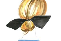 Hair style painting