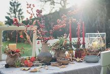 Bunter Herbsttisch - Das letzte Mal draußen essen