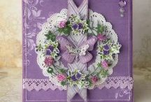 Purple Card Inspiration / My eyes are instantly attracted to purple cards, it's one of my favourite colours.