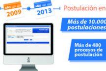 Postulación en línea / Sistema de Postulación en línea moderniza y facilita los procesos de postulación, revisión de la información, evaluación en línea y la entrega de resultados a los postulantes.