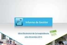Informes de gestión / Los Informes de Gestión permiten tener un conocimiento detallado sobre las diferentes estadísticas de tu unidad en Libro Electrónico de Correspondencia y/o U-Cursos.