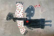 peintures singulières / outsiders paintings / tableaux originaux et authentiques / by Dominique Eustase