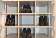 Shoe Matrix Elite Wardrobe / Elite Walk In Robe by The Wardrobe Man featuring our new Shoe Matrix boxes with drawers, shelves, long hang and half hang spaces.