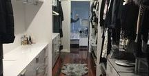 """A Fashionista's Dream Elite Wardrobe / This elite Modular Wardrobe was Custom designed earlier this year and is finished in the colour """"Brushed Silver Velour"""".   Elite modular creates an open an airy wardrobe that has a higher visibility and flexibility than traditional boxy wardrobes. Visit us in our showroom today and discuss your storage needs with our expert designers."""