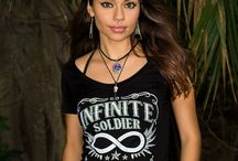 Infinity Symbol Women's Graphic T-Shirts / Ladies trendy and comfortable ladies apparel with the infinity symbol. Includes graphic tee shirts, ladies long sleeve Tshirts, racerback tanks, ladies scoop neck and flowy cut off Tshirts.