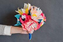 DIY Flowers / paper flowers, fabric flowers, flower craft, #paperflower, #fabricflower, #flowercraft / by Anne Miner