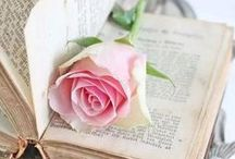 cottage of roses / a lovely cottage filled with roses in pinks, reds, blues and more; the breeze billows the curtains and iced tea waits in the garden / by Deanna