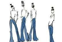 Fashion Illustration / easy, loose fashions illustrations, including my own
