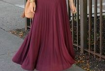 Maxi / We love maxi skirts and dresses. They are beautiful and extremely comfortable to wear.