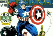 Classic Captain America comic covers / I am a long time Captain America comic book collector and have also most all of these comics.  He is a classic superhero and more than just a super soldier.