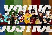 Young justice / Mostly Robin/Nightwing Young Justice with the whole gang. Artemis, Superboy, M'gann, Wally, Aqualad and the rest.  Cute, funny, and fan-art. (Also some Teen Titans, Batman, and Justice League)
