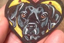 Artwork: Jewelry for Custom Pet Portraits / Each intuitive custom #petportrait - dog art, cat art, and horse art pet portraiture from photos - includes its own timelapse video AND an animal communication message. FOR COMMISSIONS: http://heartfullpets.com/order-pet-portraits/    mellie@mellierose.com / (814) 791-5683