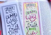 Biblejournaling Tutorials / Pins waarop handige tips worden gegeven of technieken worden uitgelegd.