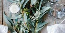 Natural Wedding / A natural wedding theme full of olive wreaths, white color and minimal decor.