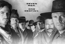 """The Magnificent Seven / The movies were great, and I really enjoyed them a lot, but this board is dedicated to the 1990's TV Series. It starred Michael Biehn, Ron Perlman, Eric Close, Dale Midkiff, Anthony Starke, Rick Worthy, Andrew Kavovit, Laurie Holden, Dana Barron and Robert Vaughn who was, of course, in the original film. Lord knows I love me a Western, and this was my favorite one. """"Shot a lot of holes in the clouds back there. Anyone stop to reload?"""" - Chris Larabee / by Laura Lang"""