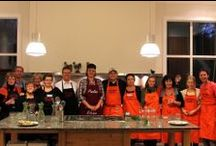 Corporate Team Building / The school lends itself to team building cooking for up to 24 people.Teamcooking involves plenty of communication and the kitchen is an ideal atmosphere for participants to really get to know each other and build relationships. In a professional kitchen with a relaxed environment, students will chat together whilst cooking up a meal that they will then enjoy together.