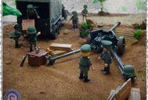 Diorama WW2-03 / Una posición de artillería recibiendo suministros - A Pak40 is receiving supplies.