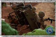 Diorama WW2-04 / Soldados estadounidenses en un aprieto - US soldiers in a bind.