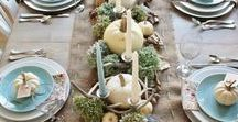 Thanksgiving Beach Style / Put a little sand on your turkey! Ok, not really, but here are some wonderful coastal themed decorating ideas for your Thanksgiving and beyond. www.bellabeach.com