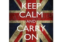Keep Calm Posters / Originally appearing on a World War II-era British public safety poster. The Keep Calm poster was designed for british citizens during WWII, but never distributed.