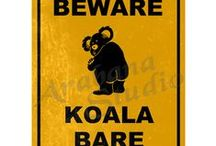 Road Sign Posters / These images might be seen on Australia roads… then again maybe not!