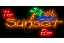 Neon Bar Sign Prints / Glowing from the wall, these high quality uniquely original prints are an amazing centrepiece and really make your Bar Stand out.  Note: Neon Bar Signs are Prints Only, NOT Neon Signs  Print Size: 50cm x 25cm