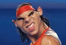 """Caricatures """"légendes du tennis"""" / mon job... Caricatures parues dans le livre """"légendes du tennis"""" (éditions Vents d'ouest, 2013)"""
