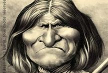 American history caricatures / Caricature portraits and illustrations of famous people of American history